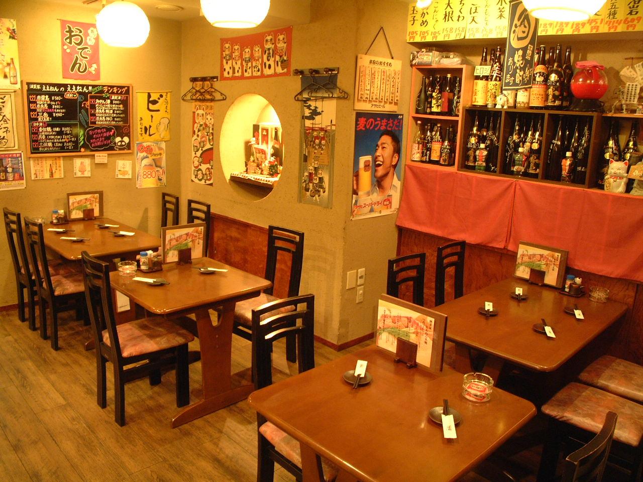 カウンター席も有でお一人様からでも◎宴会コース飲み放題付で3500円~ 各種宴会承ります。