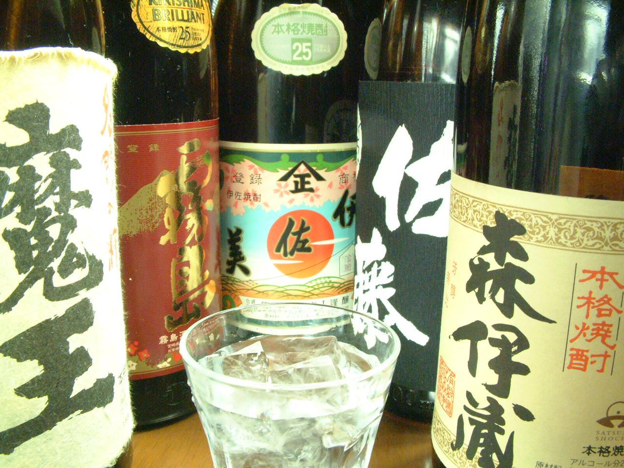 プレミアを含む豊富な焼酎・日本酒がええねん!